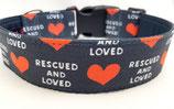 Klickverschluss Halsband Rescued and Love / 15.