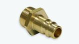 Druckluft-Kupplung DN 7,2 Stecknippel mit Außengewinde Messing
