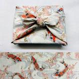 Furoshiki Carpe orange/écru