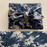 Furoshiki Vague bleu marine