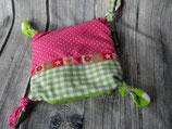 Traubenkernkissen Herz / Pink - Grün