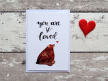 "Postkarte""you are so loved"""