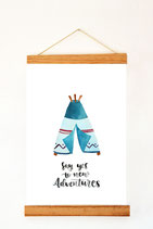 "Prints ""Say yes to new Adventures"""