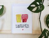 "Postkarte ""An guten und an schlechten Tagen"""