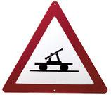 Verkehrsschild - Achtung Draisine