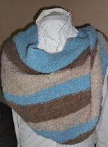 Gebreide driehoekige sjaal Rustiek