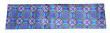 Haarband stof met paarse motieven