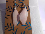 Earrings light pink feather
