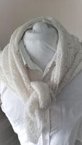 Gebreide Creme sjaal