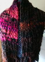 Gebreide purple sjaal