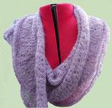 Gebreide XXL sjaal lavendel