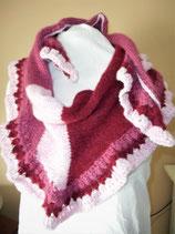 Gebreide driehoek sjaal Sorbet