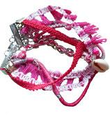 Armband Ibiza stijl Roze