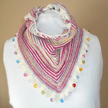 Gebreide driehoekige sjaal Color