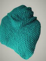 Gebreide driehoekige sjaal Smaragd