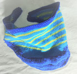 Driehoekige sjaal blauw gestreept