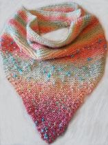 Gebreide regenboog sjaal