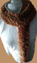 Bont sjaal bruin