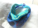 Gebreide driehoekige kleine sjaal Blauw