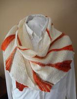 Gebreide driehoekige sjaal Sunrise