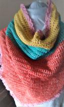 Gehaakte sjaal kleurrijk