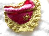Gebreide kleine driehoekige sjaal Pink