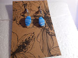 Earrings blue mix glass beads