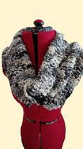 Gebreide sjaal Zeeschuim