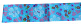 Haarband stof blauw met bloemetjes en kraaltjes