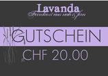 Geschenkgutschein Wert CHF 20.00