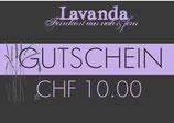 Geschenkgutschein Wert CHF 10.00
