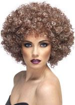 Perücke Afro braun
