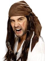 Perücke Pirat mit Kopftuch