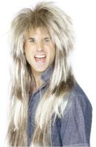 Perücke 80's Rockstar blond