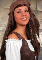 Perücke Piratin mit Kopftuch