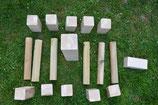 DIY-Kubb , DIY-Wikingerspiel zum selbst gestalten in Turniermaßen.