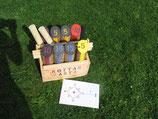 ( Kottarkasta® ) Kegelwurfspiel und Turnierplatte