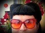 Schmetterling-Sonnenbrille in Rot
