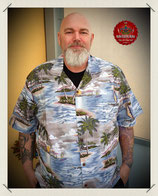 Hawaiihemd Oldschool Palmeninsel