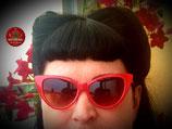 Cat-Eye-Sonnenbrille in Rot