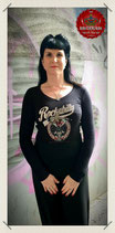 "Damen Long Sleeve V-Neck  ""Pin Up im Glas"""