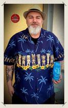 Hawaiihemd TIKI Blüten Traditionell