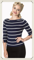 Blue White Stripes Knit Jumper