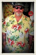 Hawaiihemd Hibiskus und Orchidee