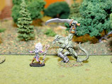 DARK ELF DRAGON WARRIOR AND SORCERESS - GUERRIER DRAGON ELFE NOIR ET SORCIERE