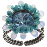 Kaleidoscopic Ring blau