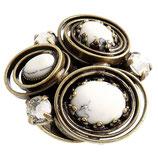 Boho Twist Ring weiß
