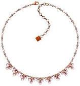 Aquarell Halskette rosa