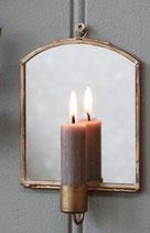 Wandkerzenständer mit Spiegel