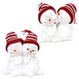 Schneekinder-paar